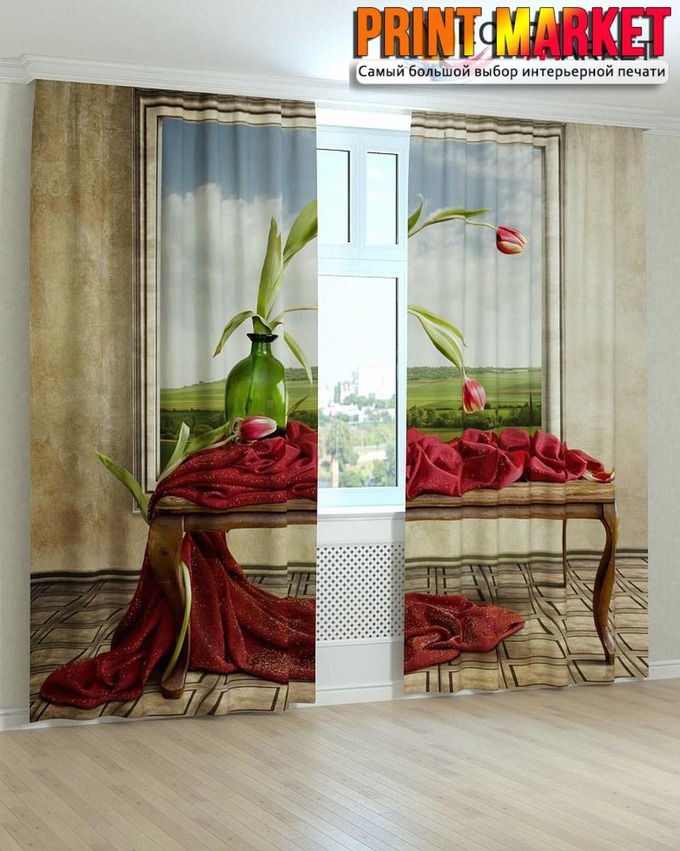 Фотошторы картина тюльпаны