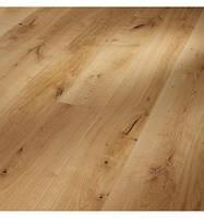 Паркетная доска MEISTER PD 550, Oak | brushed  , Дуб брошированный 8091, V-образные фаски неправильной формы по длинным сторонам