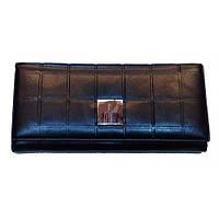 Кожаные женские кошельки 19*9 (черный), фото 1