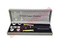 Лазерная указка Green Laser Pointer, зеленый лазер, 5 насадок, фото 1