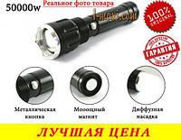 Тактический фонарик BL TS 60 с магнитом фонарь