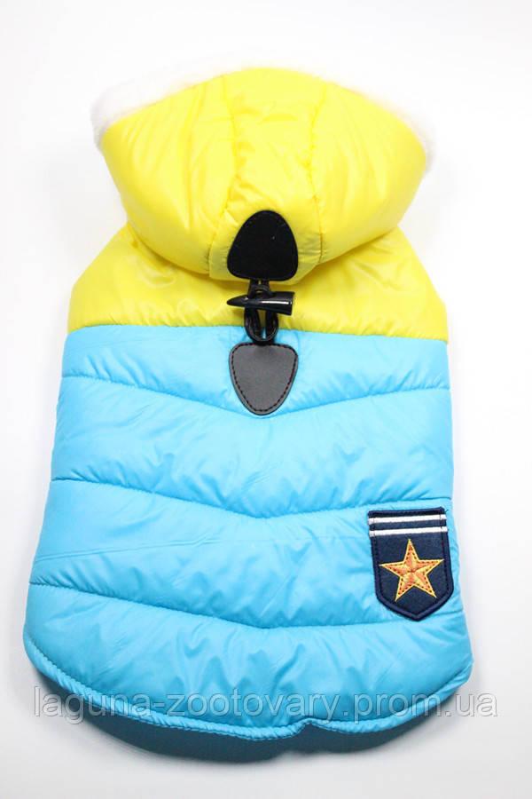 Куртка - пальто ПАТРИОТ для собак, размеры XS, S, M, L, XL желтый
