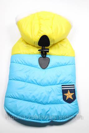 Куртка - пальто ПАТРИОТ для собак, размеры XS, S, M, L, XL желтый, фото 2