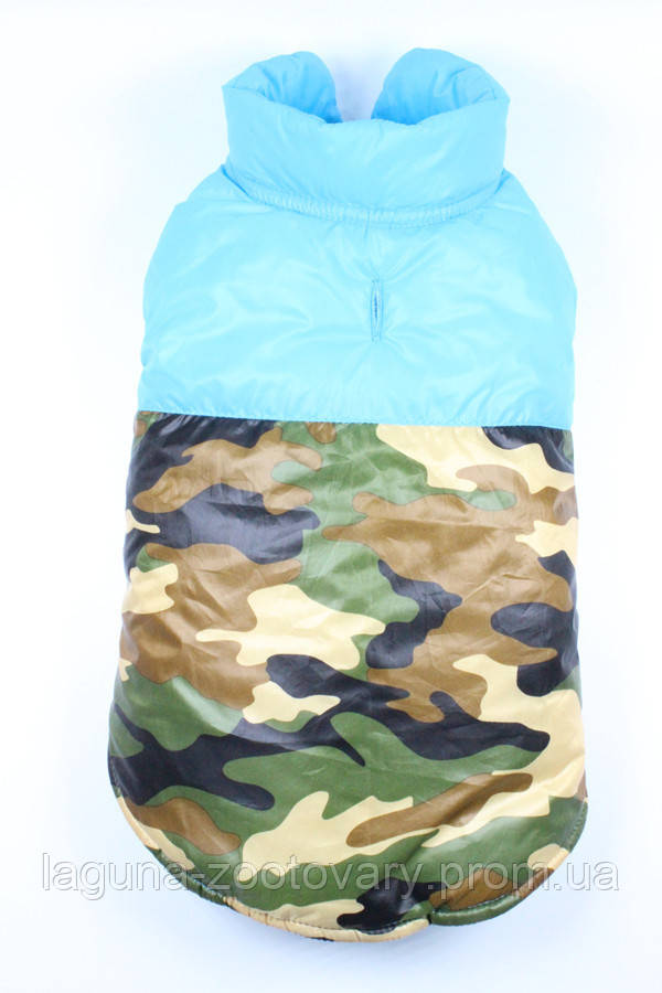 """Куртка """"ФРИДОМ"""" для собак, теплая, бирюзый, размеры XS, S, M, L, XL"""
