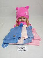 Детская шапка с шарфом для девочки Инга р.48-59