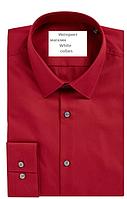 Рубашка красная Slim с длинным рукавом