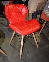 Стул Axel DS-926 на деревянных ножках цвет бук натуральный, сиденье из красного кожзама