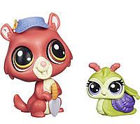 Лител Пет Шоп Маленький Зоомагазин набор фигурок Littlest Pet Shop Greenley and Pacer Landon