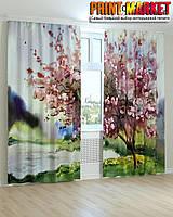 Фотошторы цветущее дерево