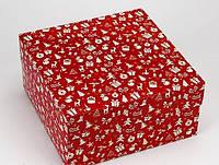 Коробка 200/200/100мм красная