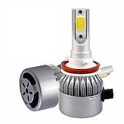 Светодиодные LED (лед) лампы H11 H8 H9  (8000Lm, 6000 К, 72W)