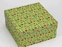 Коробка 200/200/100мм зеленая