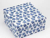 Коробка 200/200/100мм синяя