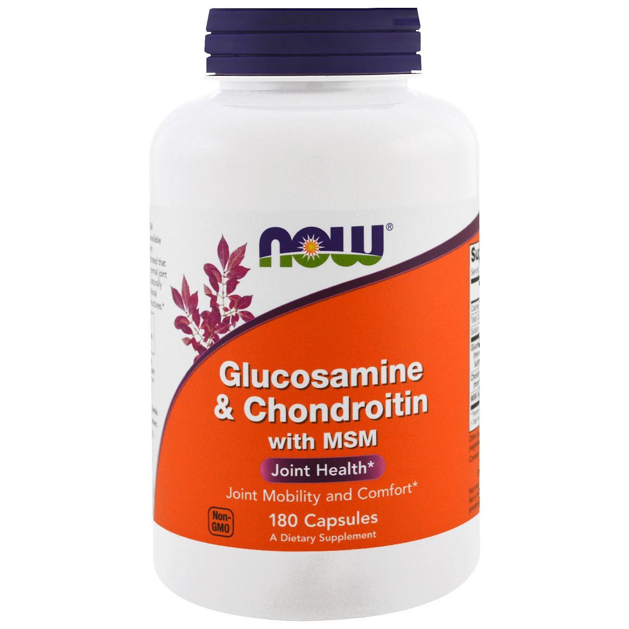Глюкозамин, Хондроитин и МСМ / NOW - Glucosamine&Chondroitin,MSM (180 caps)