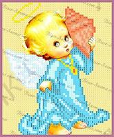 Ангелочек с ракушкой 16х13