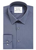 Рубашка серая классическая с длинным рукавом S(37-38)