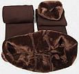 Леггинсы лосины гамаши теплые на меху Fur с носочком, фото 3
