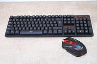 Русская беспроводная клавиатура + мышка HK6500