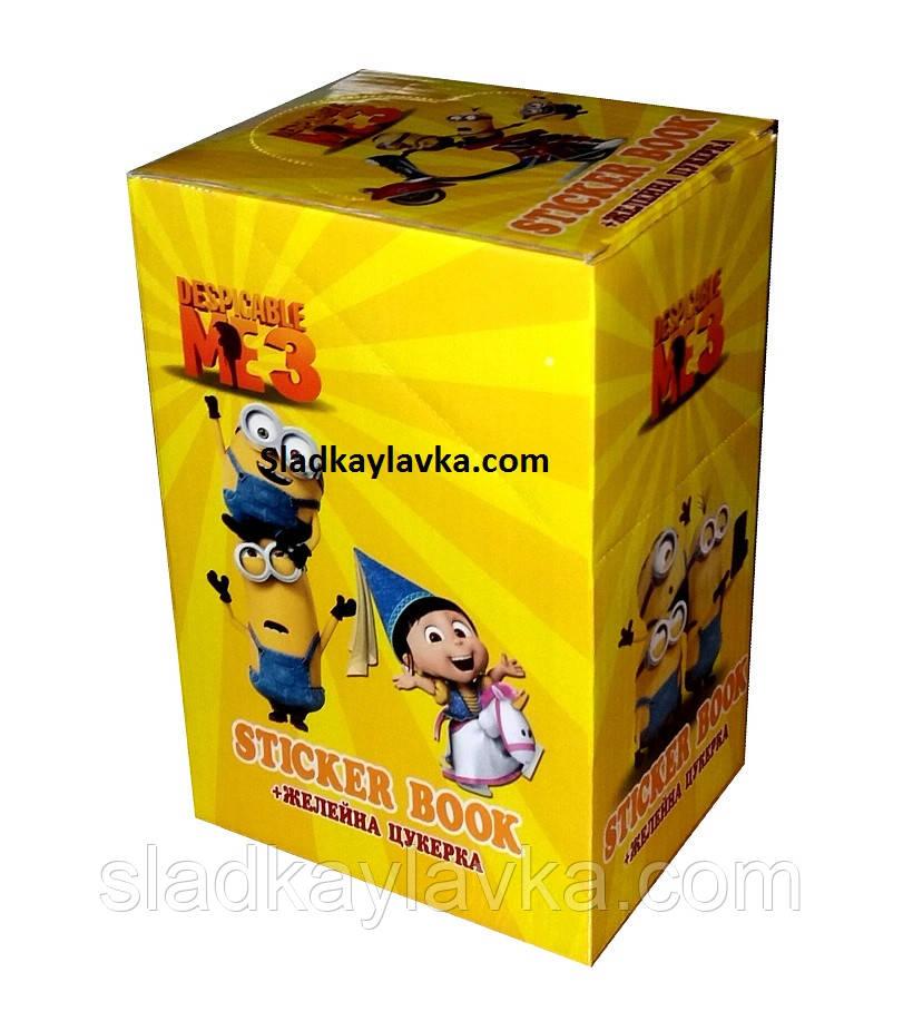 """Желейные конфеты """"Миньоны"""" + Блокнот с наклейками 24 шт (Китай)"""