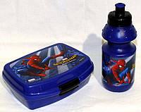 "Набор ""Spider-man (Человек - паук)"". Контейнер для завтрака (ланч бокс) + бутылка"