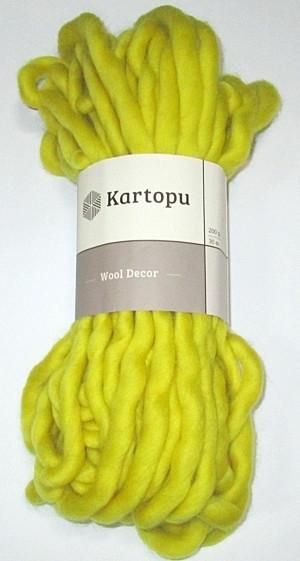 Пряжа шерстяная Kartopu, Лимонная