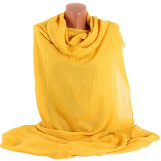 Модная женская шаль Trаum 2494-97, хлопок, 190х130 см, цвет желтый.