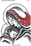 Силуэт мадонны с младенцем