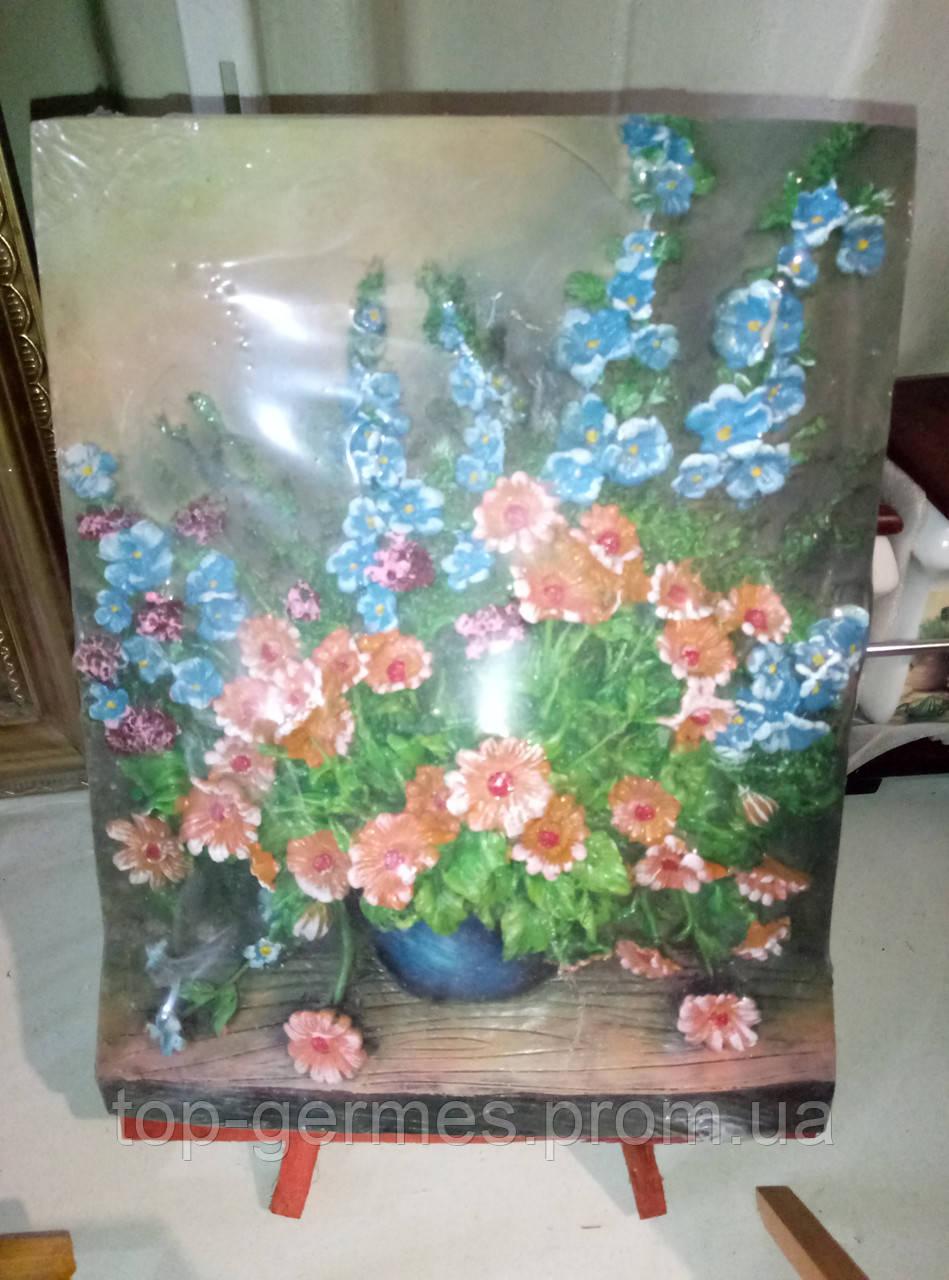 """Шикарная 3D картина """" полевые цветы"""" с подставкой"""