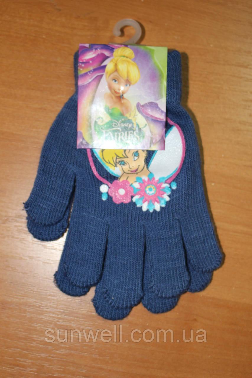 Перчатки для девочек Феи Дисней, 15см