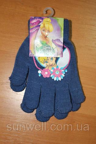 Перчатки для девочек Феи Дисней, 15см, фото 2