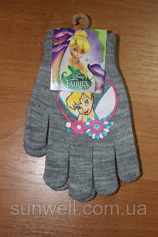 Рукавички для дівчаток Феї Дісней, 15см, фото 2