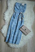 Новое миди платье без бретелей Zara, фото 3