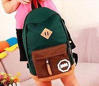 Городской рюкзак Темно-зеленый 001