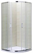 TOKAI душова кабіна кутова округла 90*90*190 на дрібному піддоні PUF 5 см, профіль хром, скло прозоре 5
