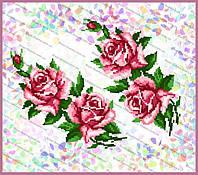 Схема на водорастворимом флизелине - Розы