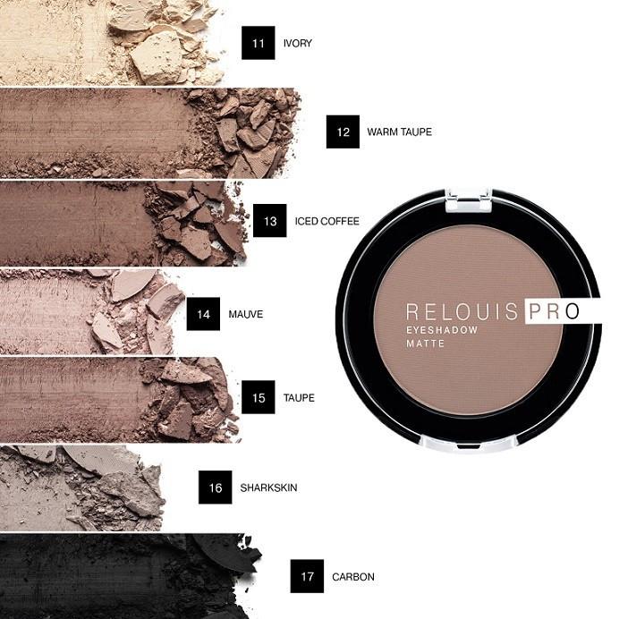 Картинки по запросу Тени для век Relouis Pro Eyeshadow Matte, 3 г