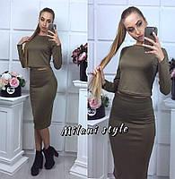 Костюм кофта + юбка карандаш М 77