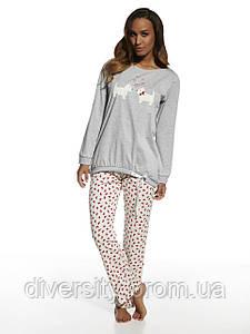 Стильная хлопковая пижама 699 Dogs Cornette L, серый