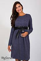 Платье для беременных и кормящих Orbi, джинсово-синий меланж*