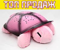 Черепаха-проектор звездного неба музыкальная розовая