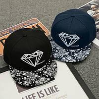 Кепка снепбек Diamond (Диамант) с прямым козырьком, Унисекс, фото 1