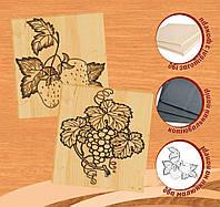 Клубника и виноград, набор для выжигания по дереву, Идейка