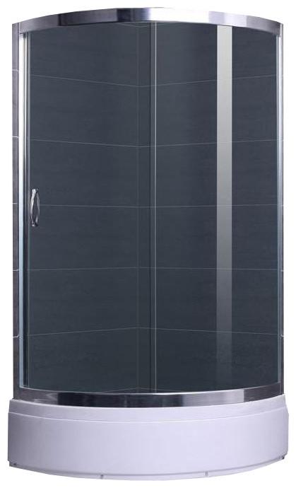 CSARDAS душова кабіна кутова округла 95*95*200 на середньому піддоні 35 см, профіль хром, скло тоноване