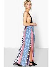 Новая макси юбка с боковыми разрезами Boohoo, фото 2