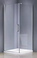 RUDAS душова кабіна квадратна 90*90*205 ліва/права, на дрібному піддоні PUF 5 см, профіль хром, скло прозр