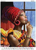 Схема для частичной зашивки бисером - Африканочка