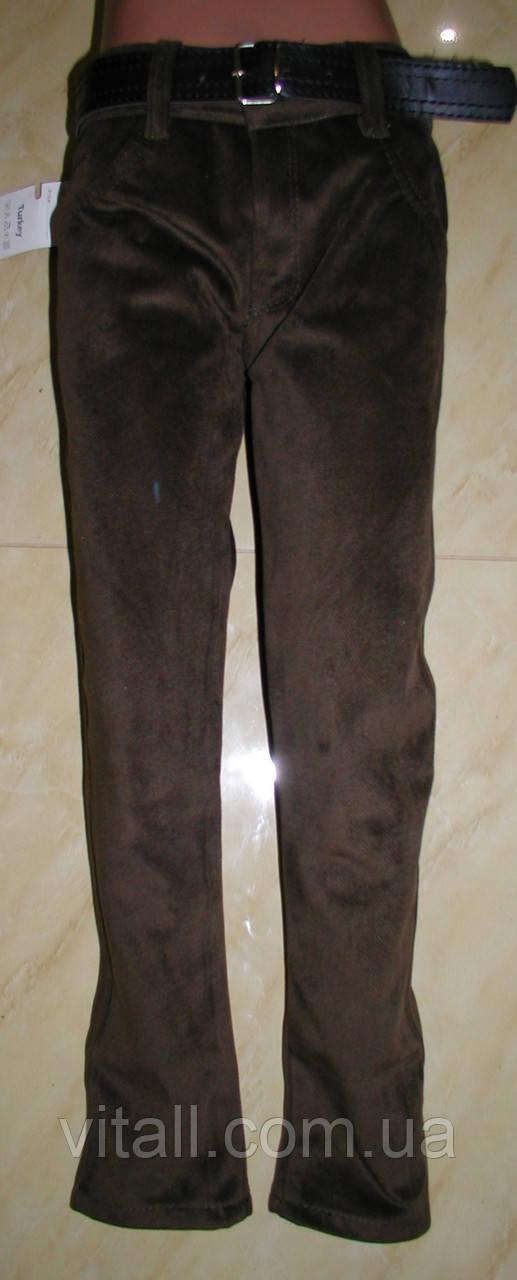 Вельветы стильные от 8 до 12лет цвет коричневый