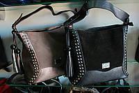 Молодежная сумка с оригинальным украшением