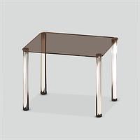 Стеклянный обеденный стол MONO P mini B/CHR