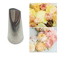 Лепесток розы Насадка  для крема  №120 средний
